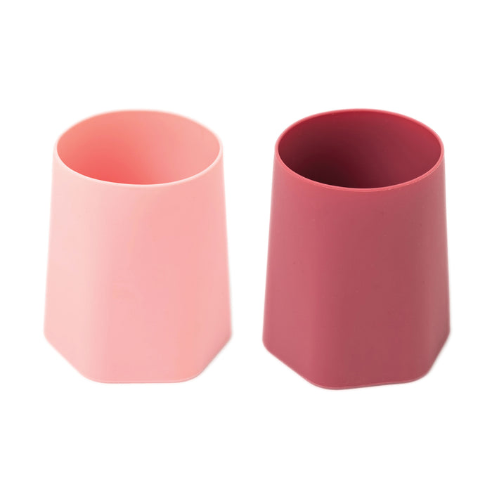 Silicone Training Cup Set of 2 - Rose, Burgundy