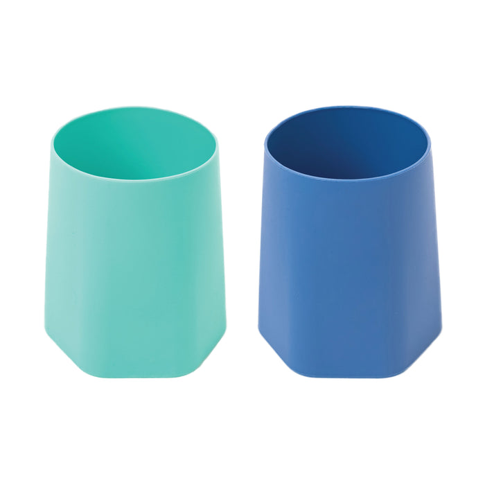 Silicone Training Cup Set of 2 - Indigo, Mint