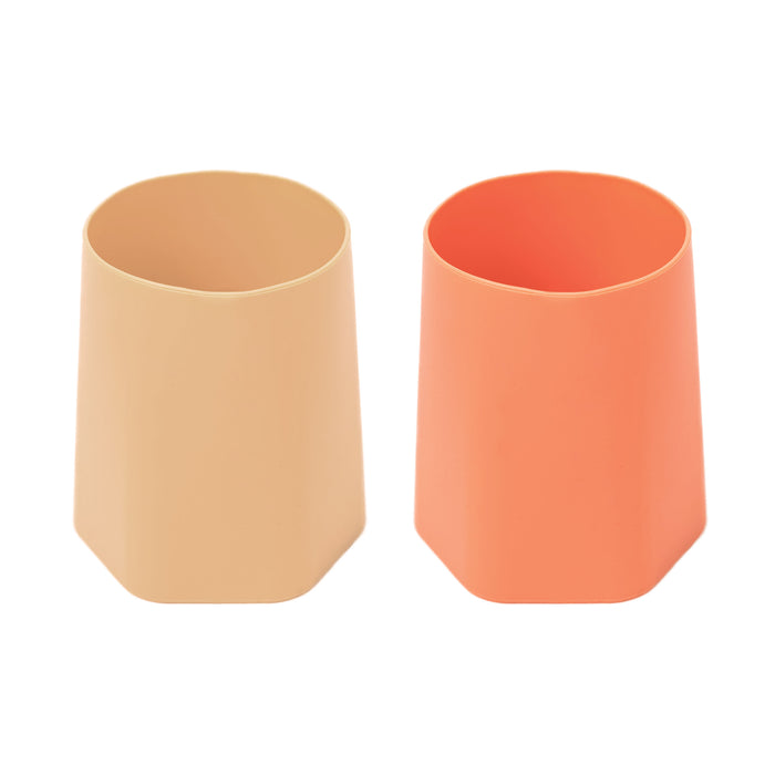 Silicone Training Cup Set of 2 - Sand, Coral