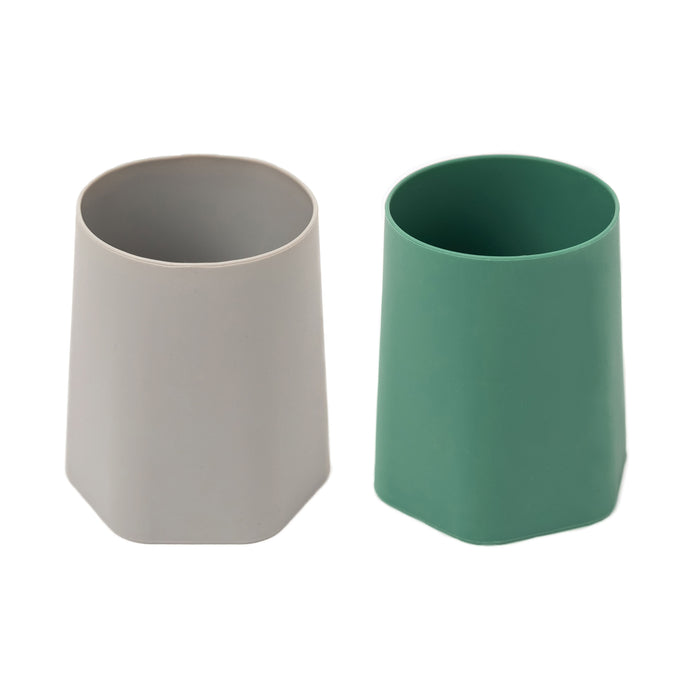 Silicone Training Cup Set of 2 - Olive, Grey