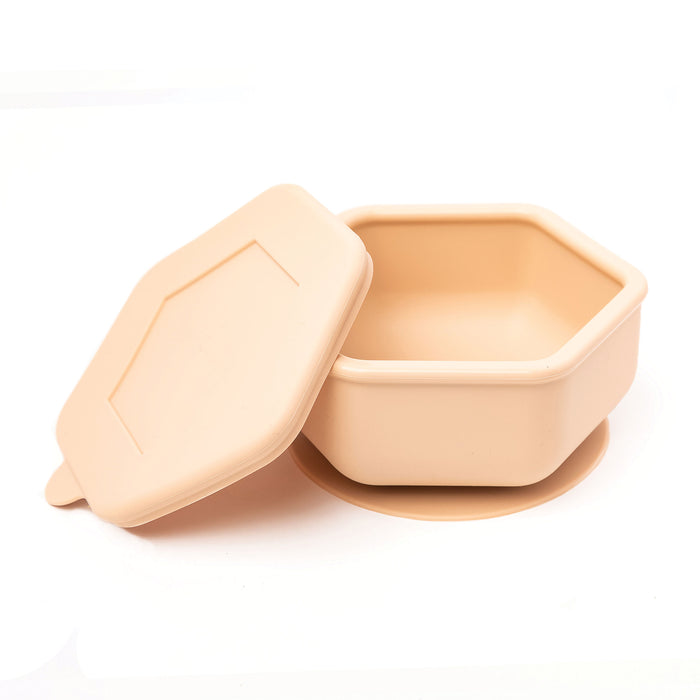Silicone Bowl and Lid Set - Sand