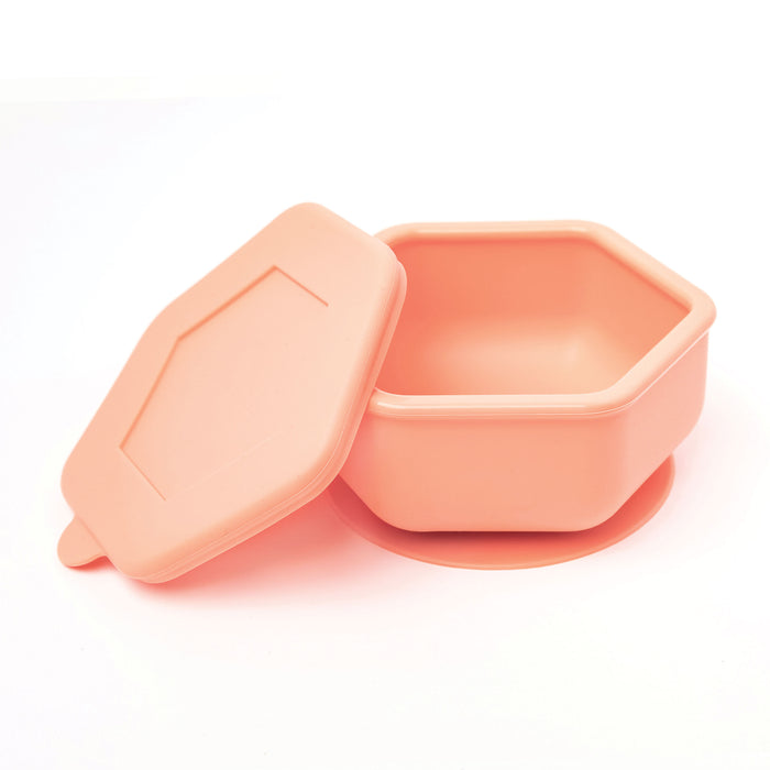 Silicone Bowl and Lid Set - Coral