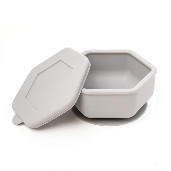 Silicone Bowl and Lid Set - Grey