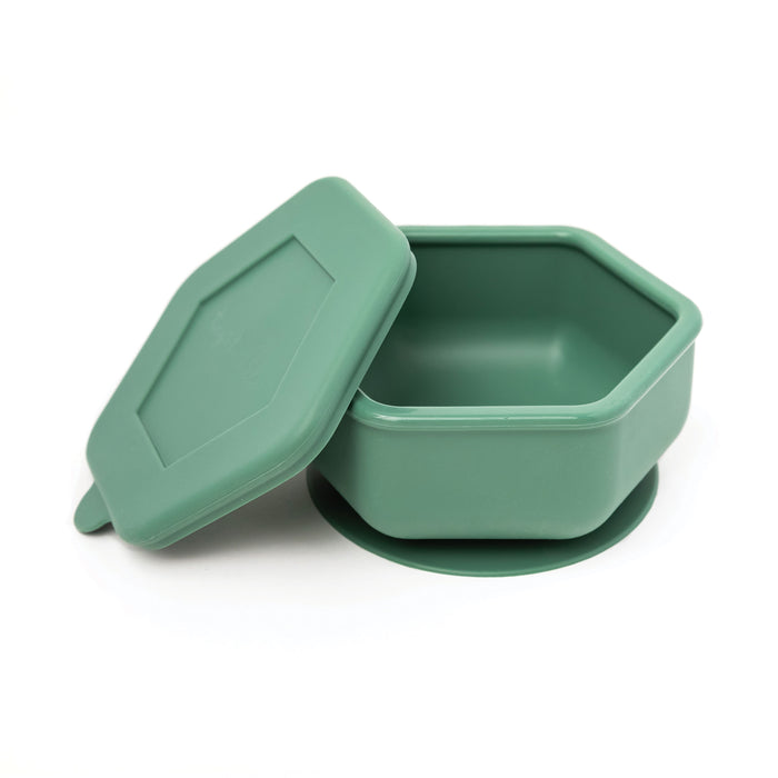 Silicone Bowl and Lid Set - Olive Green