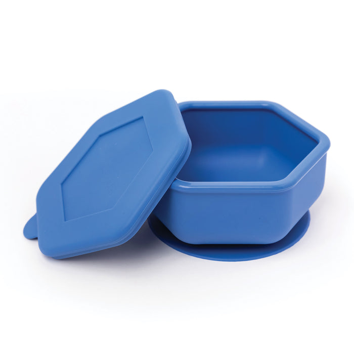 Silicone Bowl and Lid Set - Indigo
