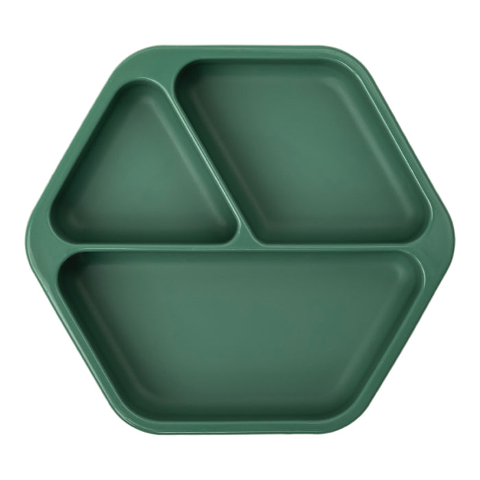Silicone Suction Plate - Olive Green