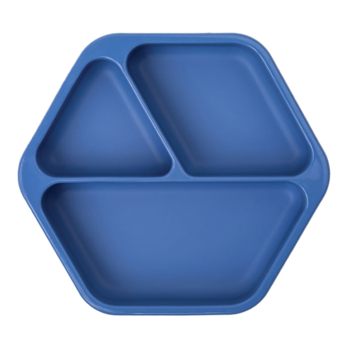 Silicone Suction Plate - Indigo