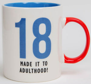 18 - Made it To Adulthood Fine Bone China Mug