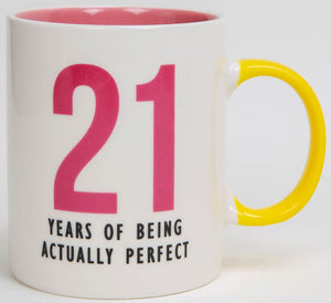 21 - Years of Being Actually Perfect Fine Bone China Mug