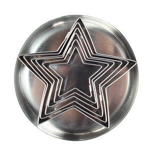 Star Stainless Steel Cutters - 6 Pieces