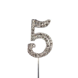 Diamante Number 5 - Silver
