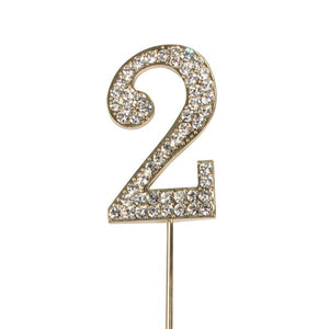 Diamante 2 Cake Topper - Gold Metal