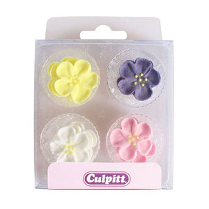 Wild Roses Cake Toppers - 12 Pack