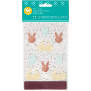 Wilton Mini Happy Easter Bunny Treat Bags - Pack of 20
