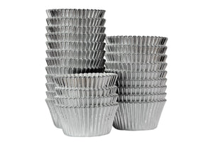 Silver Foil Large Cupcake / Muffin cases- Bulk pack of 375