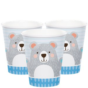 Birthday Bear Party Cups - 8 Pack
