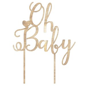 Club Green Oh Baby Cake Topper