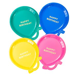 Brights Paper Plates - 12 Pack