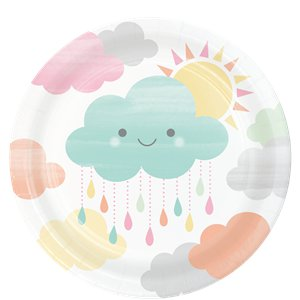 Sunshine Baby Showers Paper Lunch Party Plates - 8 Pack