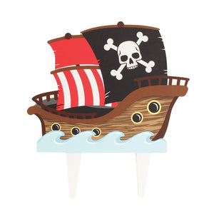 Pirate Ship Cake Decoration - Gumpaste Pick - 145mm