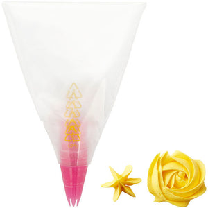 WILTON : DISPOSABLE PIPING STAR TIP AND BAG - SET OF 6