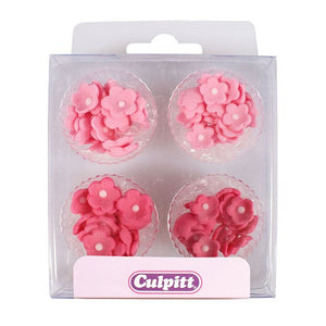 Pink Sugar Mini Flowers - 100 Pack