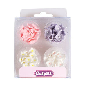 Pastel Mini Sugar Flowers - 100 pack