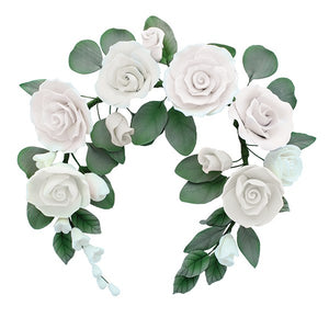 Gumpaste Flower Crown Cake Topper  - 220 x 200mm