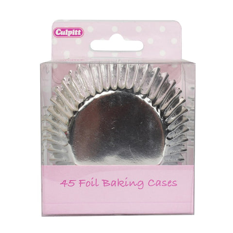 Silver Foil Cupcake Cases - 45 Pack