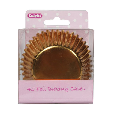 Gold Foil Cupcake Cases - 45 Pack