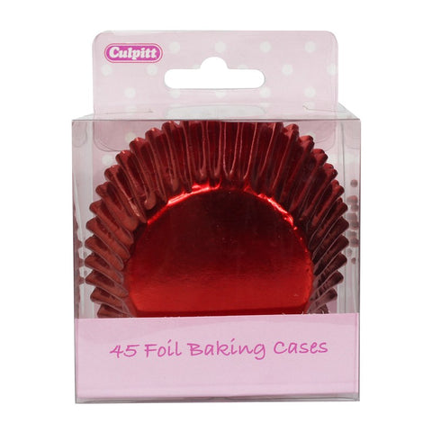 Red Foil Cupcake Cases - 45 Pack