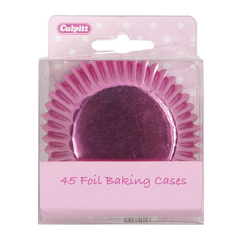 Pink Foil Cupcake Cases - 45 Pack