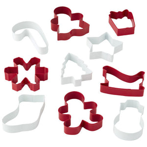 Wilton 10 Christmas Holiday Shapes Cookie Cutters