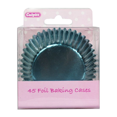 Ice Blue Foil Cupcake Cases - 45 Pack