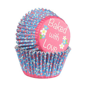 Ditzy Daisy FOIL LINED Cake Cases - 24 pack