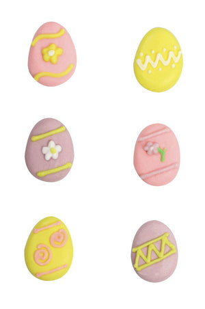 Easter Egg Sugar Toppers - 24 Pack - Assorted