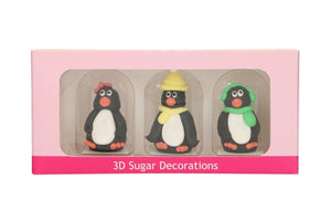 Christmas Penguin Cake Decorations - 3D Figures - Funcakes
