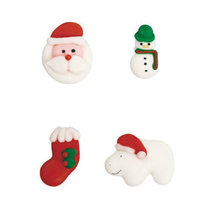Children's Christmas Sugar Toppers - 20 Pack