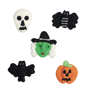 Halloween Variety Edible Cake Toppers - 20 Toppers