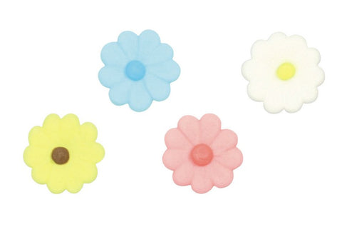 Mixed Daisies 21mm Sugar Toppers - 20 Pack