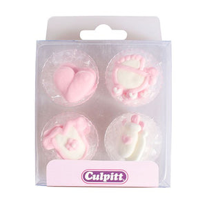 Baby Girl Cake Toppers - 12 pack