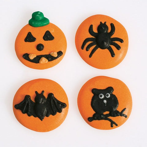 Halloween Buttons Edible Cake Toppers - 20 Toppers