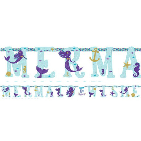 Mermaid Wishes Party Jumbo Letter Banner Kit