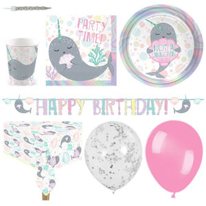 Narwhals Party - Deluxe Party Pack - 16  Guests