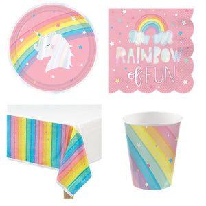 Magical Rainbow Unicorn Party Pack - 8 Guests