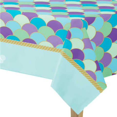 Mermaid Wishes Party Paper Tablecover - 1.37m x 2.6m