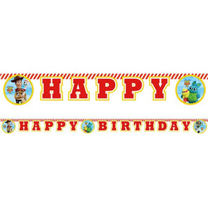 Toy Story 4 Happy Birthday Banner