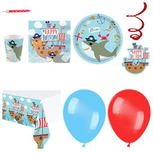Ahoy Pirate  Birthday Party Pack - 16 Guests - Deluxe