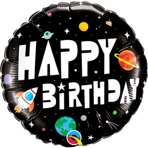 Space Birthday Foil Balloon - 18 Inches