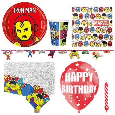 Avengers Pop Comic Party - Deluxe Party Pack for 8 Guests